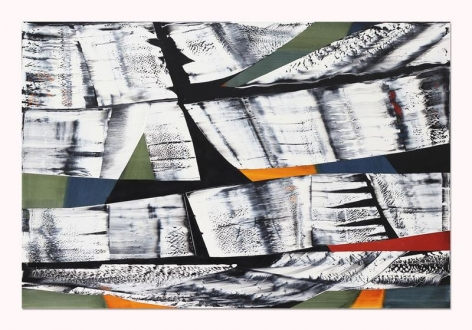 , Ricardo Mazal, Black Mountain MK 4, 2014, oil on linen, 66 x 98.5 inches/167.6 x 250.2 cm