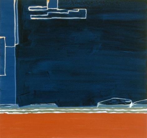Frances Barth, araki, 2004, acrylic on panel, 14 x 15 inches