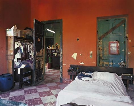 Bedroom, Ciudadela, formerly the house of Countess O'Reilly, the Condesa de Buenavista, 6 #320, Miramar, Havana, Cuba, 2001, archival inkjet print, 40 x 50 inches
