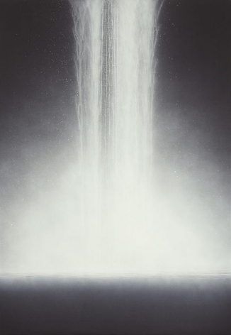 Hiroshi Senju Waterfall, 2010, pure natural pigment on mulberry paper, 64 x 44 inches