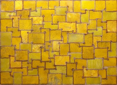 "Yoga Man, 2007, pigment on galvanized steel, 66 x 48"""