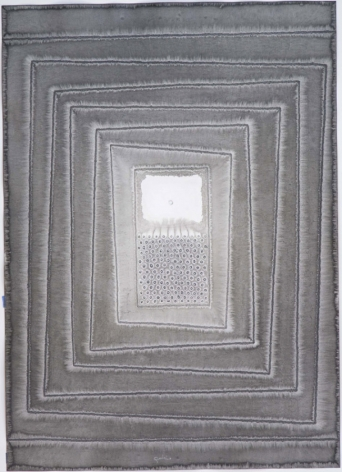 Sohan Qadri, Akriti I, 2007, ink and dye on paper,55 x 39 inches/139.7 x 99.1 cm