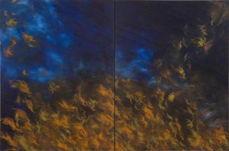 "Intangible, 2008, Acrylic on canvas, 63 x 96"""