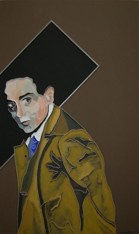Herschel Grynszpan, 2008, acrylic and wood on canvas, 60 x 36 inches