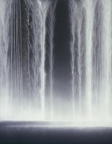 Hiroshi Senju, Waterfall, 2009, Natural pigments on Japanese mulberry paper, 116.7x90.9cm