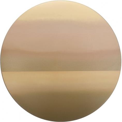 Gold Tondo 9.19.47.5, 2019, phosphorescence, pigment, resin, urethane and 24k gold on aluminum composite, 47.5 inches/120.7 cm