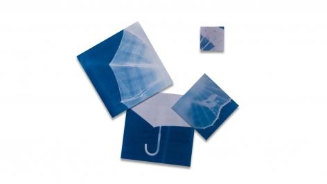 Penumbrella, 2009, blueprint, 54 x 48.5inches/137.2 x 123.2 cm