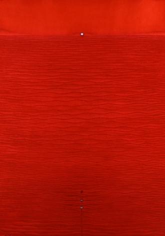 """Sohan Qadri, Abhaya II, 2005, Ink & dye on paper, 55 x 39"""""""