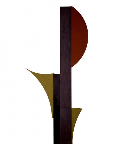 Merrill Wagner,  Amaryllis , 2006, Rust preventative paint on steel, 120 x 53""