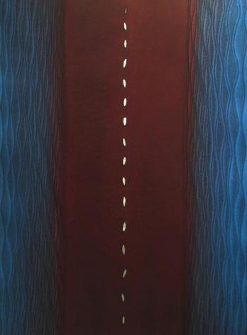 "Sohan Qadri, Amulya II, 2006, Ink & dye on paper, 55 x 39"""