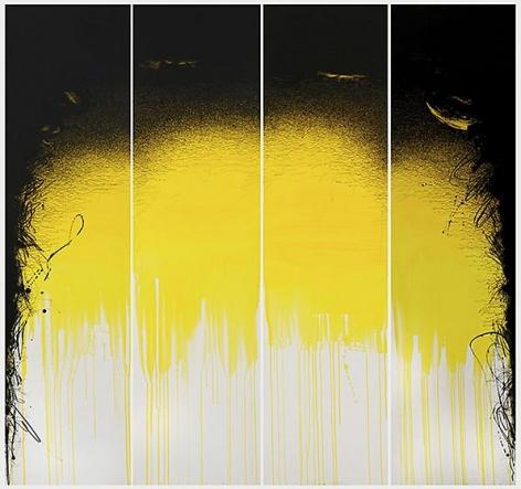 , Golnaz Fathi, untitled, 2013, acrylic, pen and varnish on canvas, 70.9 x 70.8 inches/180.1 x 179.8 cm