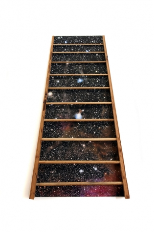 Susan Weil, Barton's Ladder, 2012, inkjet and wood on canvas, 60 x 37 x 3.5 inches/152.4 x 94 x 8.9 cm