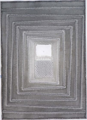 , Sohan Qadri, Untitled, 2007, ink and dye on paper, 55 x 39 inches