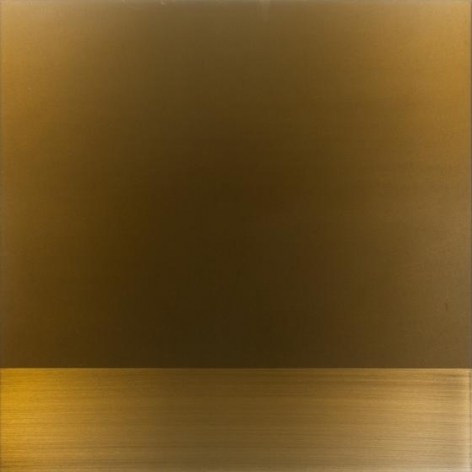 , Miya Ando, Copper, 2015, urethane, pigment, resin on aluminum, 36 x 36 inches