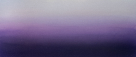 Murasaki (Purple) 6.19.23.75.55.5, 2019, pigment and urethane on aluminum, 23.75 x 55.5 inches/60.3 x 141 cm