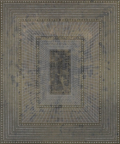 Anil Revri, Ram Darwaza 8, 2011, mixed media on canvas, 60 x 50 inches