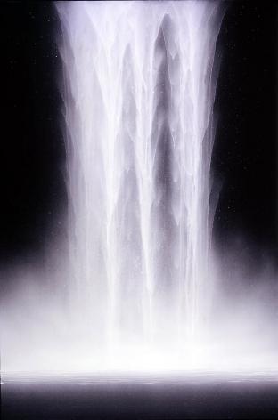 "Hiroshi Senju,  Day Falls / Night Falls V , 2007, Flourescent pigment on rice paper mounted on board, 35.75 x 23.75"""
