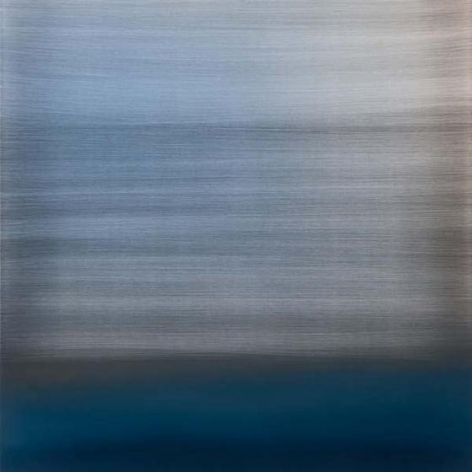 Miya Ando, Evanescent Blue, 2015, urethane and pigment aluminum, 36 x 36 inches/91.5 x 91.5 cm
