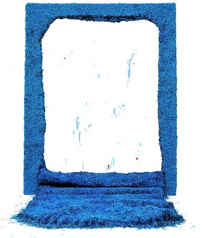 Beyond the Blue, 2011, mixed media, 98.4 x 74.8 x 78.7 inches