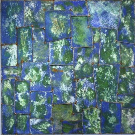 "Nathan Slate Joseph,  Ganguaur I , 2006, Pure pigment on galvanized steel, 48 x 48 x 2"""