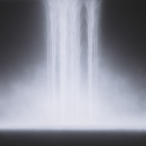 Hiroshi Senju,Waterfall, 2012, natural, acrylic pigments on Japanese mulberry paper,45.9x 45.9 inches/117 x 117 cm