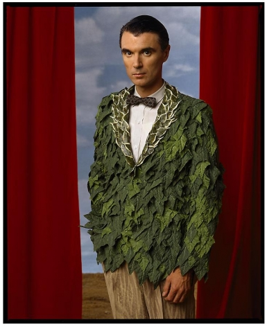 Annie Leibovitz, David Byrne, Los Angeles, 1986, archival pigment print, 40 x 60 inches