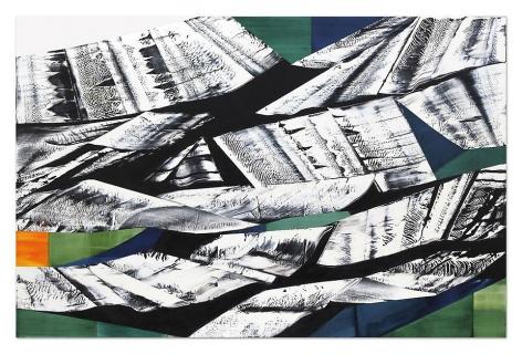 , Ricardo Mazal, Black Mountain MK 1, 2014, Oil on linen, 98.5 x 150 inches