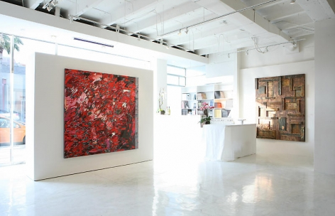 Sundaram Tagore Gallery Beverly Hills, Group Show, Artist Exhibited Left to Right: Judith Murray, Nathan Slate Joseph.