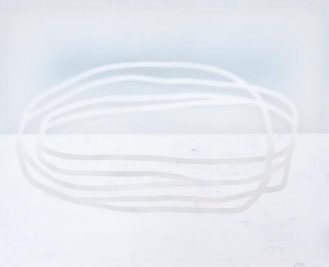 Udo Nöger, Zeit - Fliessend 2, 2019, mixed media on canvas, 72 x 89 inches/182.9 x 226.1 cm