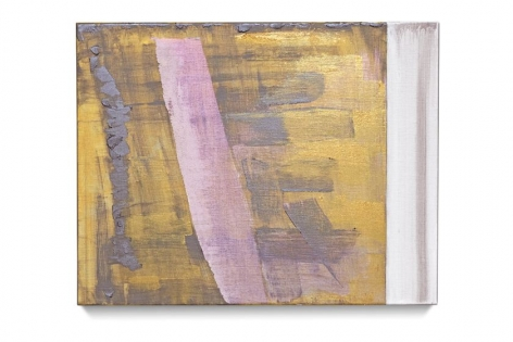 Transit, 2018, oil and metallic oil paint on linen, 11 x 14 inches/27.9 x 35.6 cm