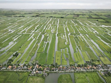 Edward Burtynsky, Polders, Grootschermer, The Netherlands, 2011, chromogenic color print, 48 x 64 inches / 122 x 162.6 cm.