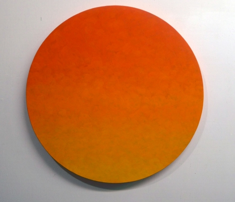 Yes, 2011, oil on canvas, diameter: 36 inches/91.4 cm