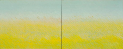 Joan Vennum Latitude, 2007  Oil on canvas  48 x 120""