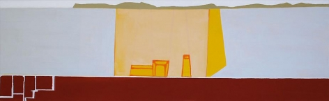 Frances Barth yellow volume	2008	Acrylic on canvas	24 x 78""