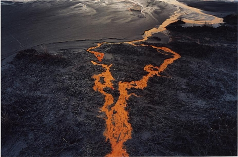 Edward Burtynsky, Nickel Tailings #31 Sudbury, Ontario 1996, Chromogenic color print, 18 x 22 inches