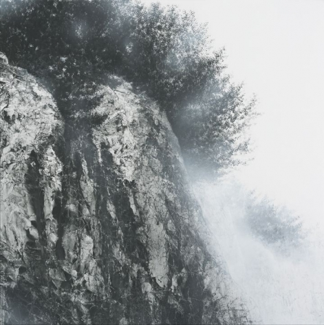 Hiroshi Senju, At World's End #5, 2017, acrylic and natural pigments on Japanese mulberry paper mounted on board, 63.8 x 63.8 inches/162 x 162 cm