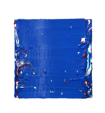 Wall Matters III, 2016, acrylic paint, heavy gel on fiberglass, 40.2 x 39.4 x 2.4 inches/102 x 100 x 6 cm