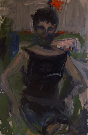 Elaine de Kooning, The Woman Who Didn't Show Up, 1962, oil on canvas, 60.5 x 40.5 inches