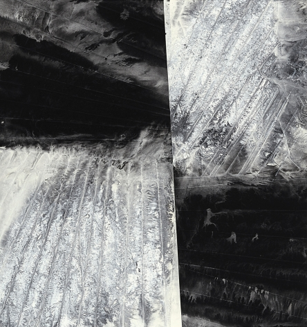 Four Uneven Surfaces Joined by Rotation, 2015, ink and acrylic on paper, 175 x 165 cm