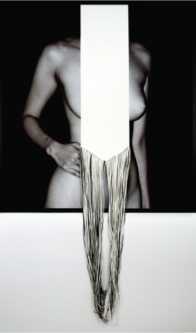 Blankness, 2015,C-type print and hand-cut canvas,43.3x 40.5inches/110 x 103 cm