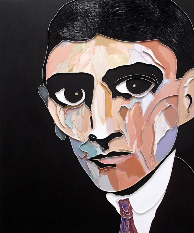 Kafka, 2013, acrylic and wood on canvas, 72 x 60 inches