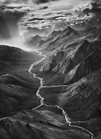 The Eastern Part of the Brooks Range, Arctic National Wildlife Refuge, Alaska, USA, 2009, gelatin silver print,68 x 50 inches/127 x 173 cm © Sebastião Salgado/Amazonas Images
