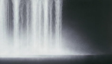 Hiroshi Senju, Waterfall, 2009, Natural pigments on Japanese mulberry paper,121.9x213.4cm