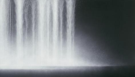Hiroshi Senju, Waterfall, 2009, Natural pigments on Japanese mulberry paper,121.9x213.4cm