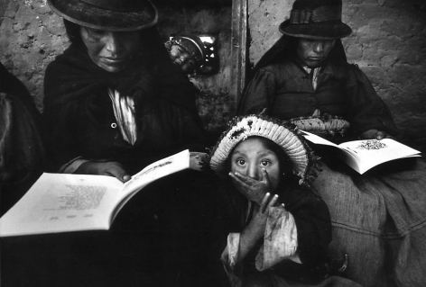 """Puno, Peru, The Child is of Little Importance, 1965, Silver gelatin print, 11.5 x 15.5"""""""