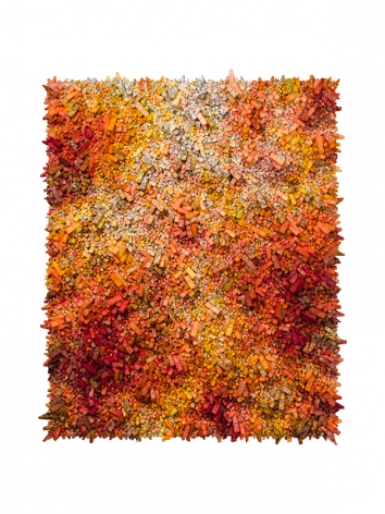 Aggregation 18 - AP023,2018, mixed media with Korean mulberry paper, 70.1 x 57.1 inches/178 x 145 cm