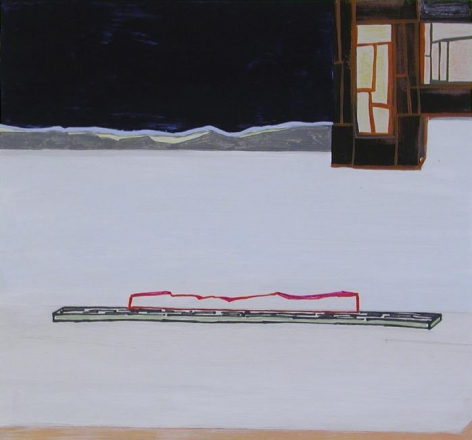 Frances Barth, nightview, 2008, acrylic on panel, 14 x 15 inches