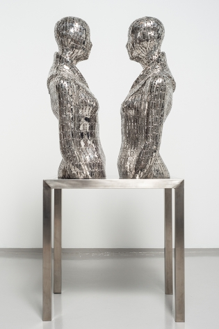 Mirror, 2017, stainless steel, 48 x 24 x 16.7 inches/122 x 61 x 50 cm