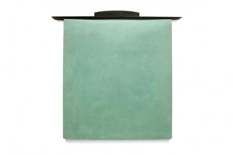 , Robert Yasuda, Threshold, 2013, acrylic on fabric on wood, 43 x 44 inches / 109.2 x 111 cm