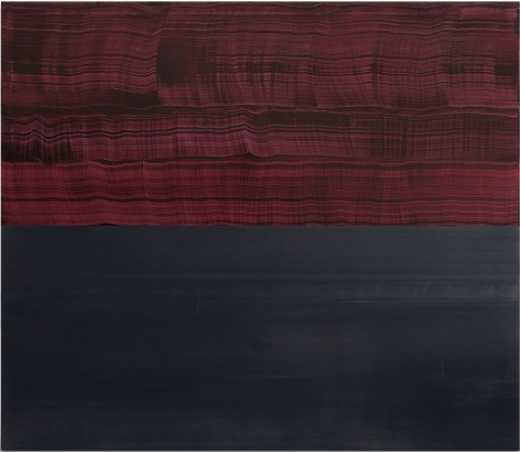 Violet and Steel Grey, 2016, oil on linen,71 x 82 inches/180.3 x 208.3 cm